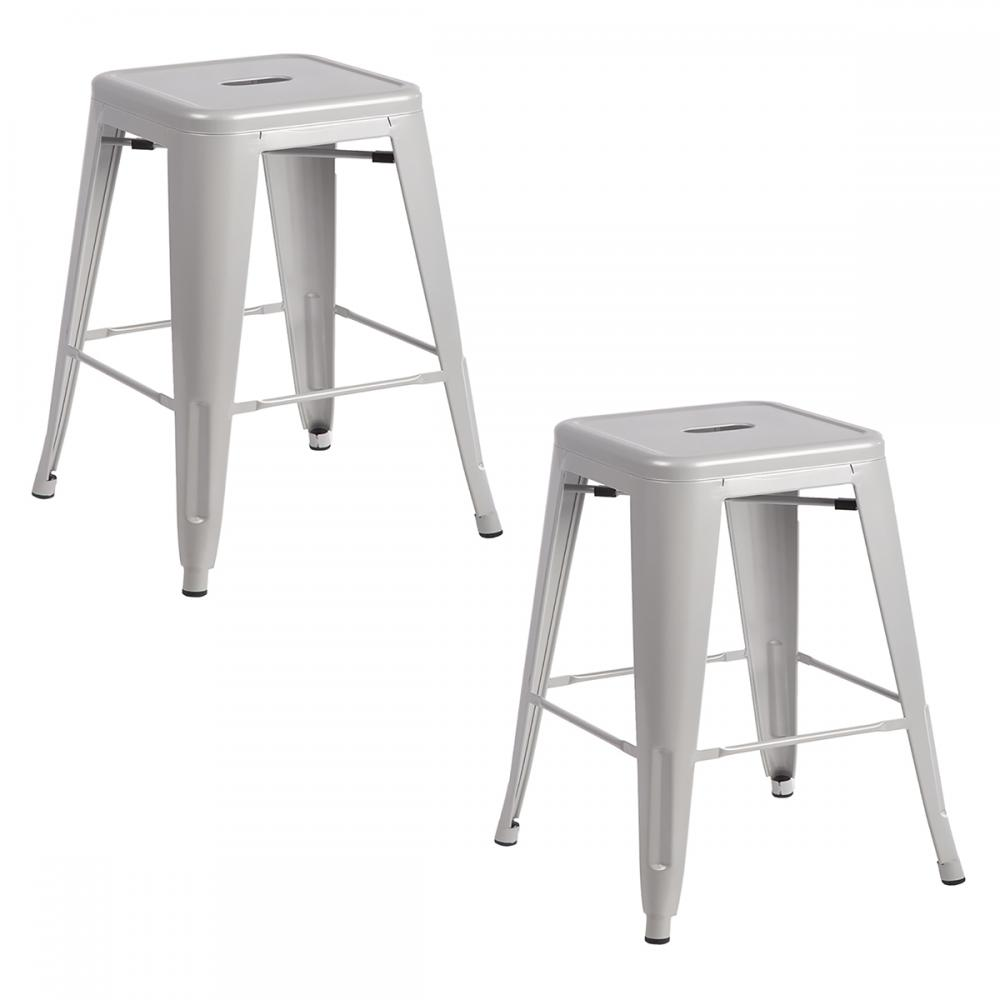 Metal Frame Tolix Style Bar Stool Industrial Chair eBay : TBS 2402 silver28229 from www.ebay.com size 1000 x 1000 jpeg 41kB