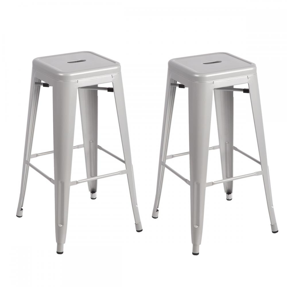 New Set Of Metal Frame Tolix Style Bar Stool Industrial  : TBS 302 silver28229 from www.ebay.com size 1000 x 1000 jpeg 44kB