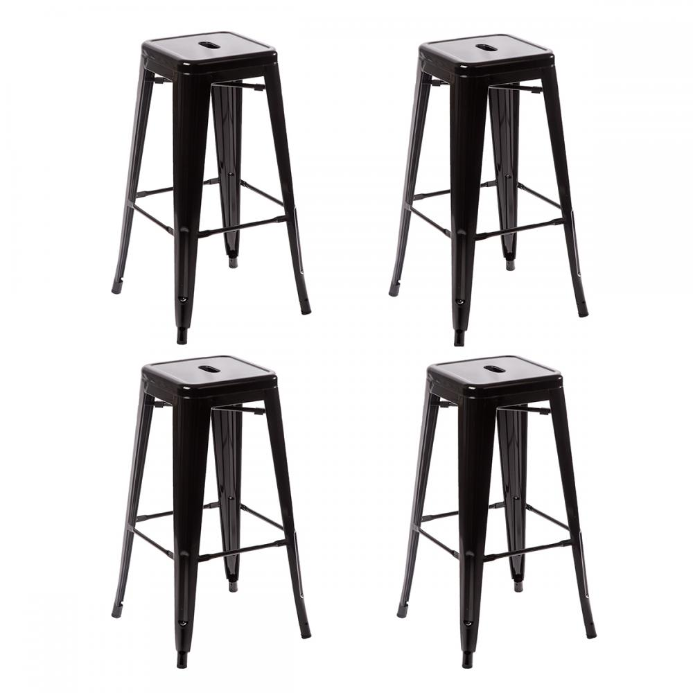 Metal Frame Tolix Style Bar Stool Industrial Chair eBay : TBS 430 black28229 from www.ebay.com size 1000 x 1000 jpeg 64kB