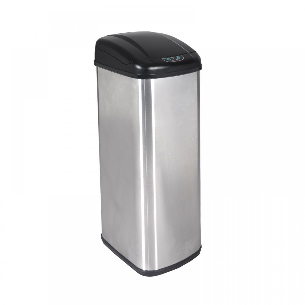 new 13 gallon touch-free sensor automatic stainless-steel trash