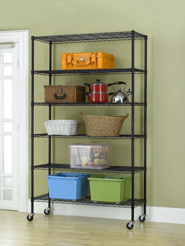 Metal Wire Shelving : Commercial quot x tier layer shelf adjustable wire