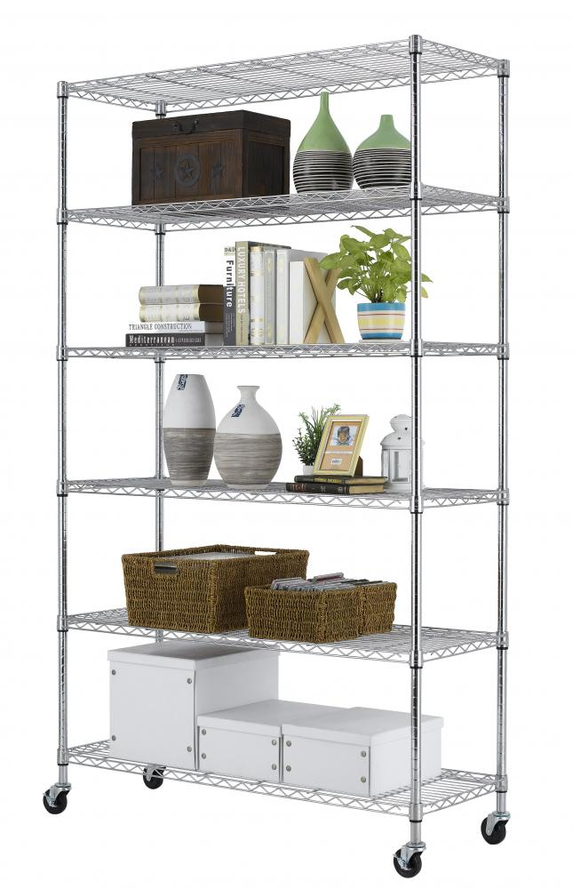 Metal Wire Shelving : Chrome quot x tier layer shelf adjustable wire