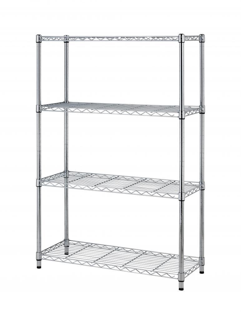Metal Wire Shelving : Quot x tier layer shelf adjustable steel wire metal