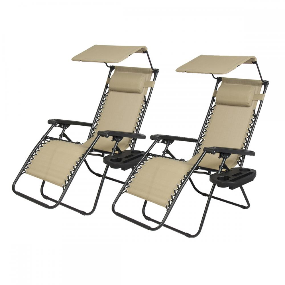 Canopies And Chairs : New pcs zero gravity chair lounge patio chairs with