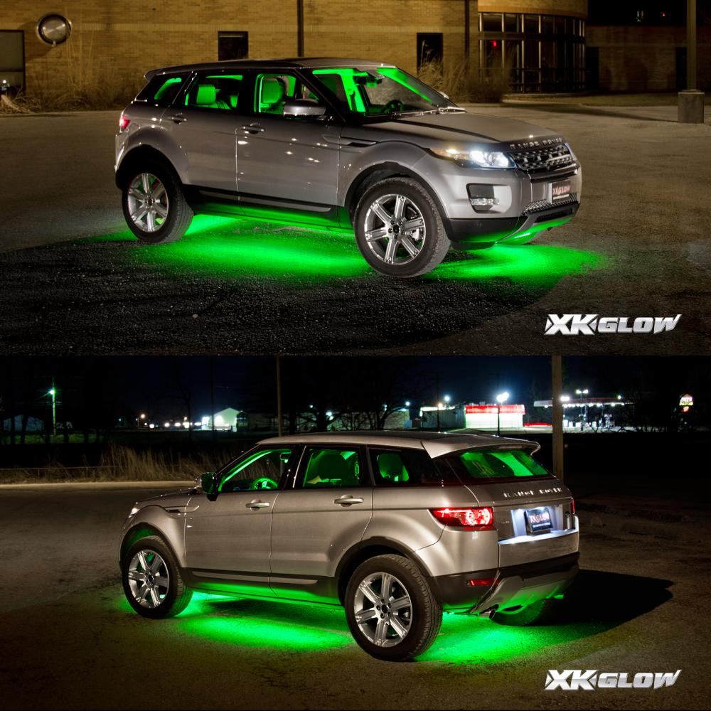 3 million color 8pc led under car glow underbody neon lights kit remote control ebay. Black Bedroom Furniture Sets. Home Design Ideas