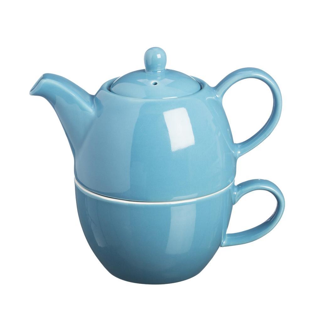 price kensington stoneware tea for one serving teapot pot cup set ebay. Black Bedroom Furniture Sets. Home Design Ideas