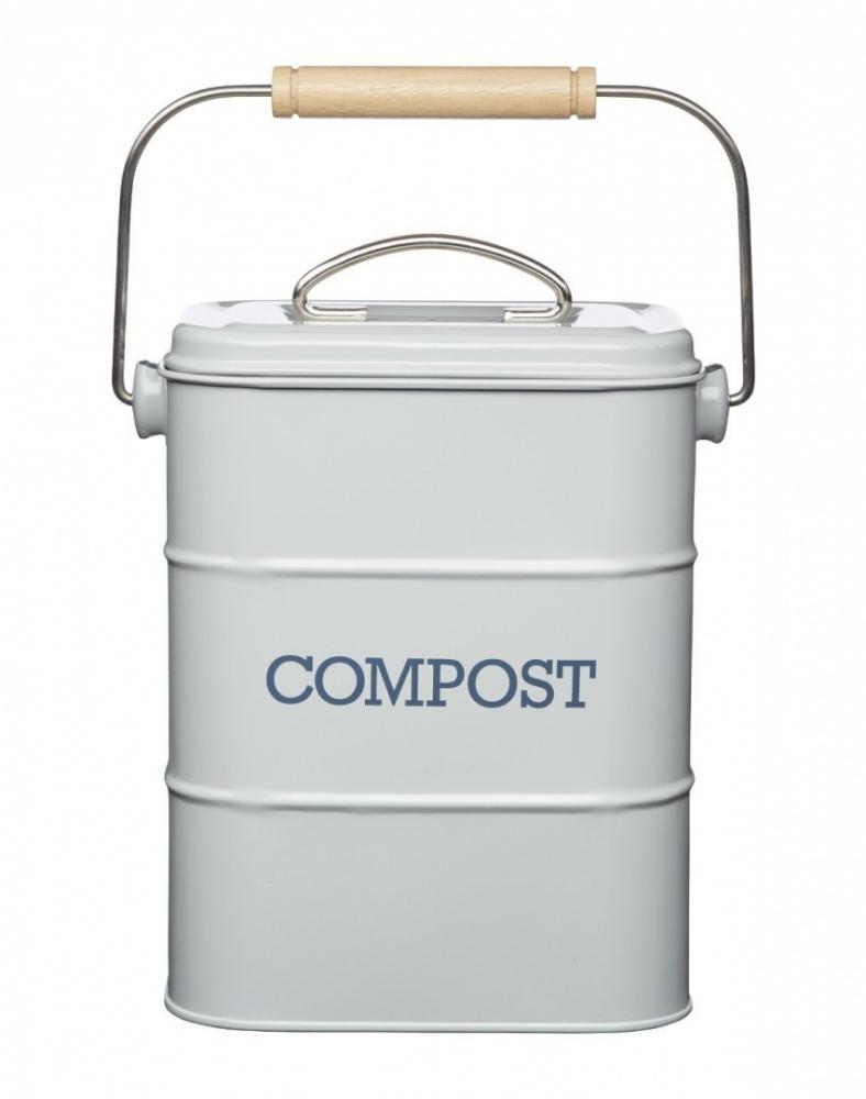 vintage enamel compost composting teabag vegetables bucket kitchen bin