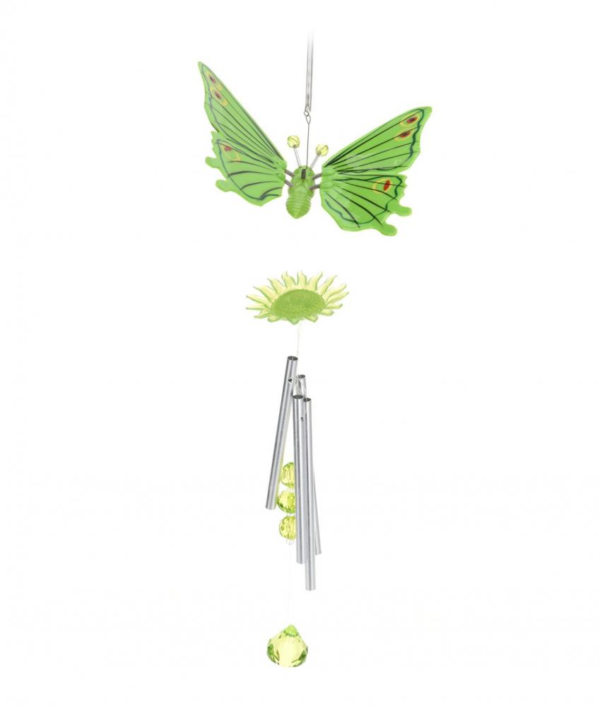 Hanging plastic butterfly windchime wind chime chimes for Outdoor hanging ornaments