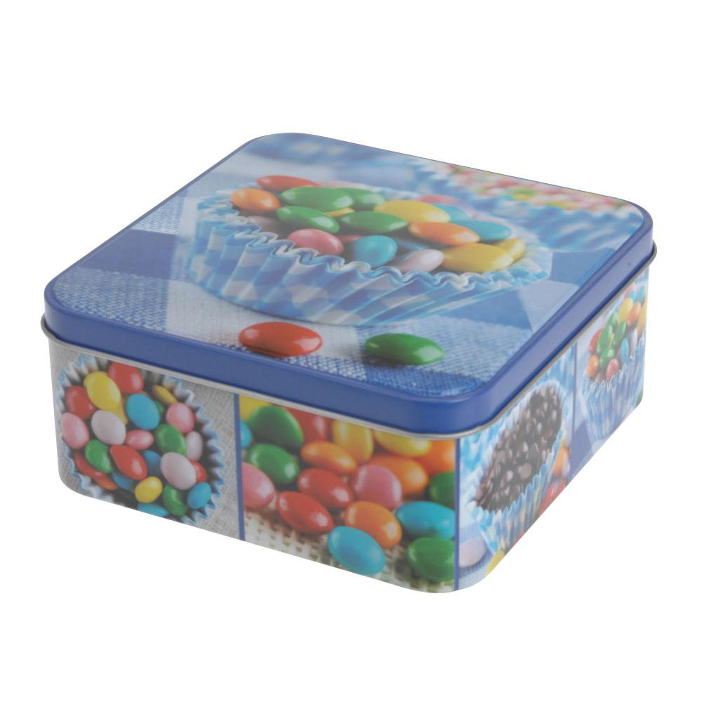 Sweets Design Square Kitchen Cake Biscuit Storage Tin Gift