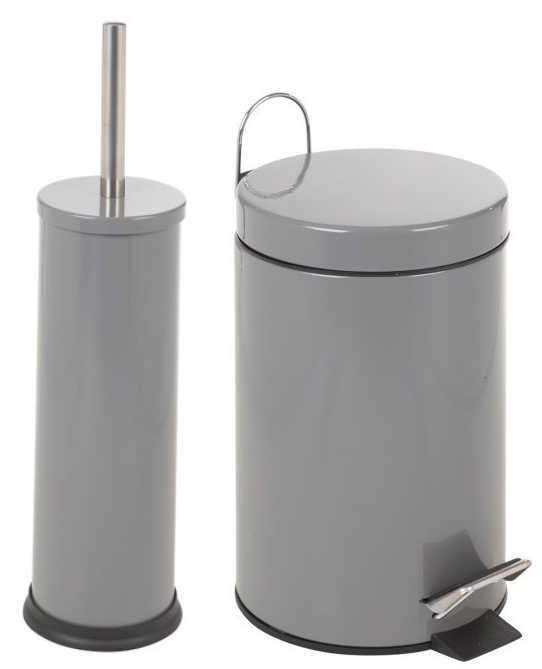 Bathroom 3ltr pedal bin toilet brush holder set choice for Bathroom bin and brush set