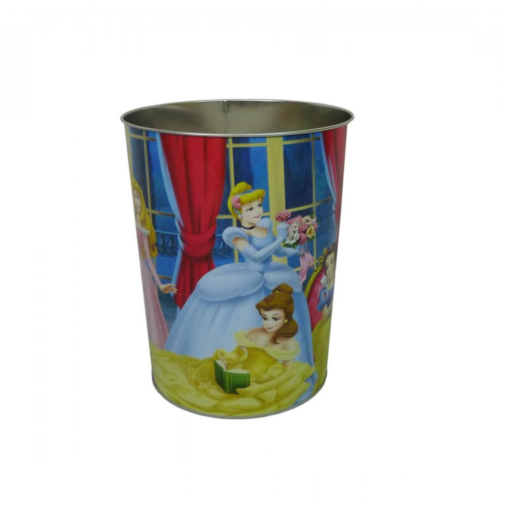 Disney Princess Kids Metal Waste Paper Rubbish Dust Bin
