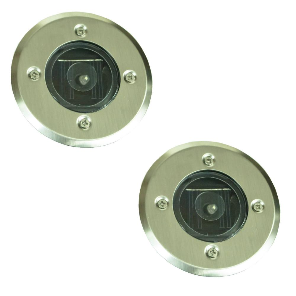 Pack Of 2 LED Recessed Ground Outdoor Pathway Garden Drive
