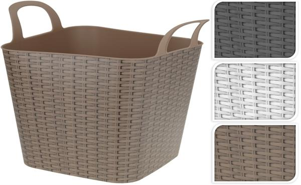 Flexi Basket Rattan Plastic Tub Tubs For Gardening Toys