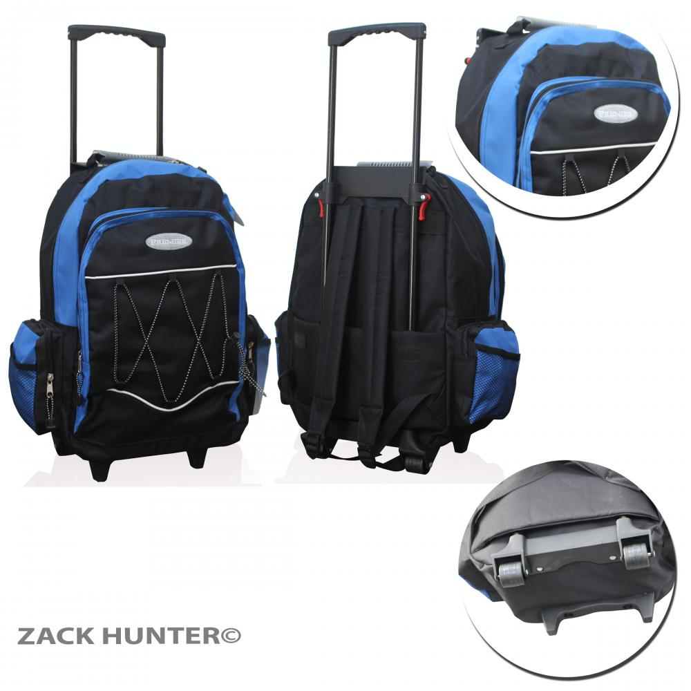 mens ladies rucksack with wheels trolly bag travel cabin bags with handle tb 60 ebay. Black Bedroom Furniture Sets. Home Design Ideas