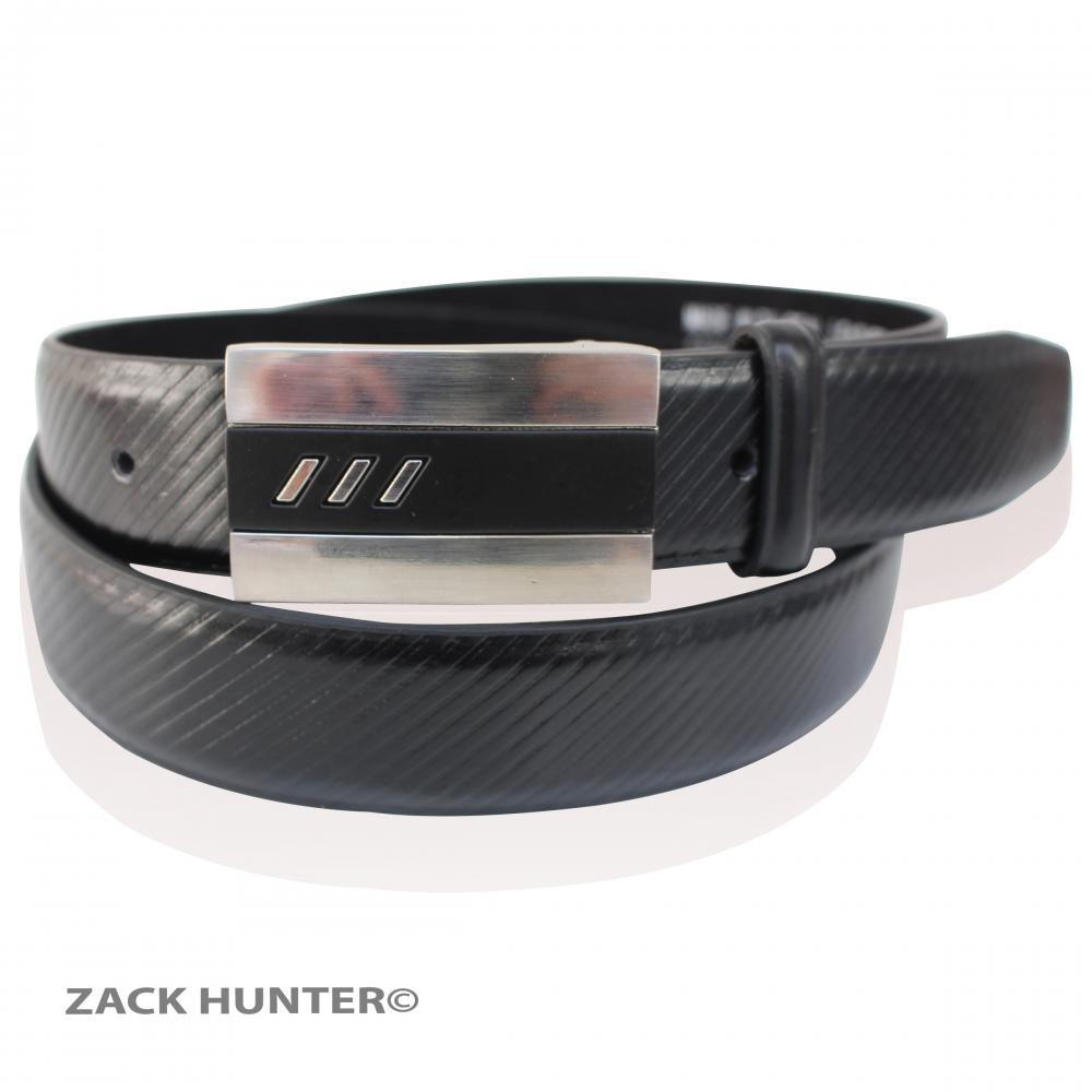 mens real leather belts stylish buckle belt in black 1 25
