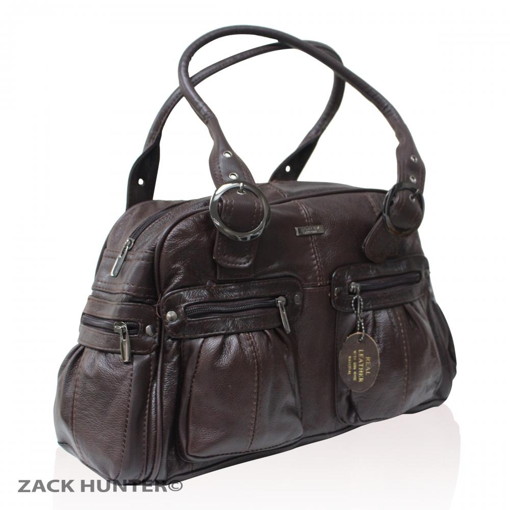 ladies real leather handbag womens satchel bag shoulder
