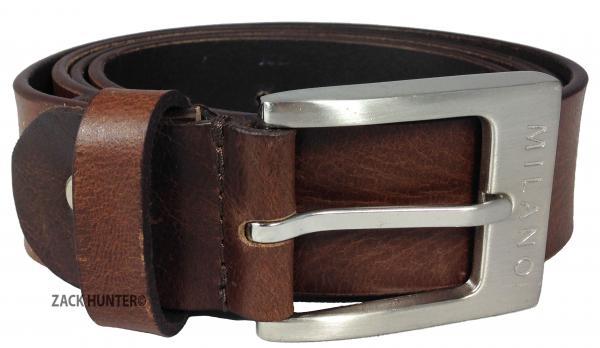 Milano Mens 1 5 Quot Real Full Grain Leather Belts Black Brown