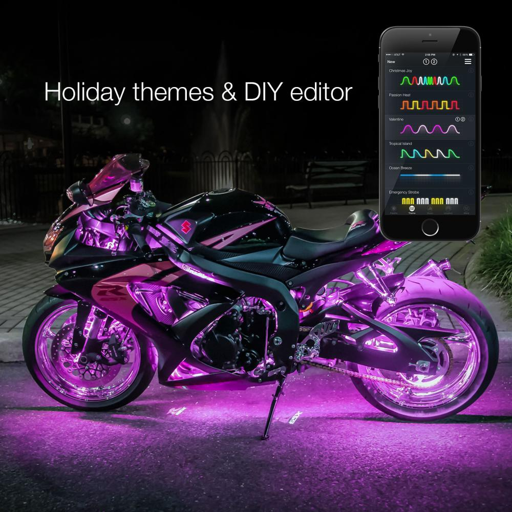 Light Controller For Motorcycles: 6 POD 6 Strip Xkchrome IOS Android APP Controlle