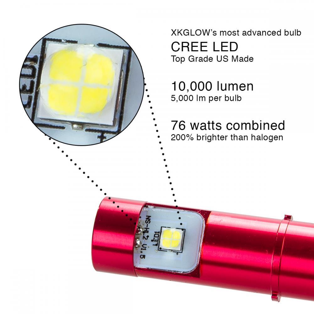 10 000 lumen 76w h4 cree led high low dual beam headlight conversion kit bulbs ebay. Black Bedroom Furniture Sets. Home Design Ideas