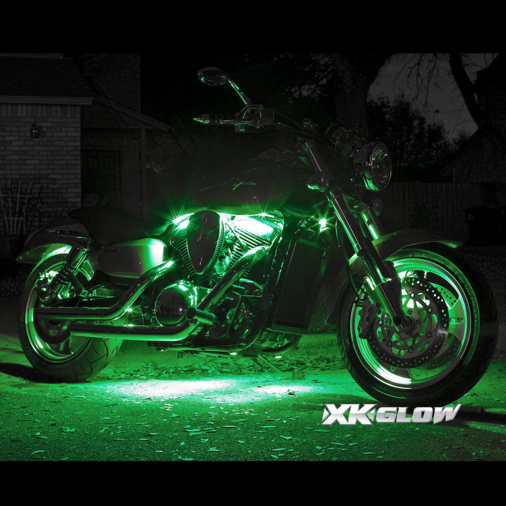 8 pod 4 strip 7 color wireless remote kit for motorcycle underglow neon lighting ebay - Underglow neon ...