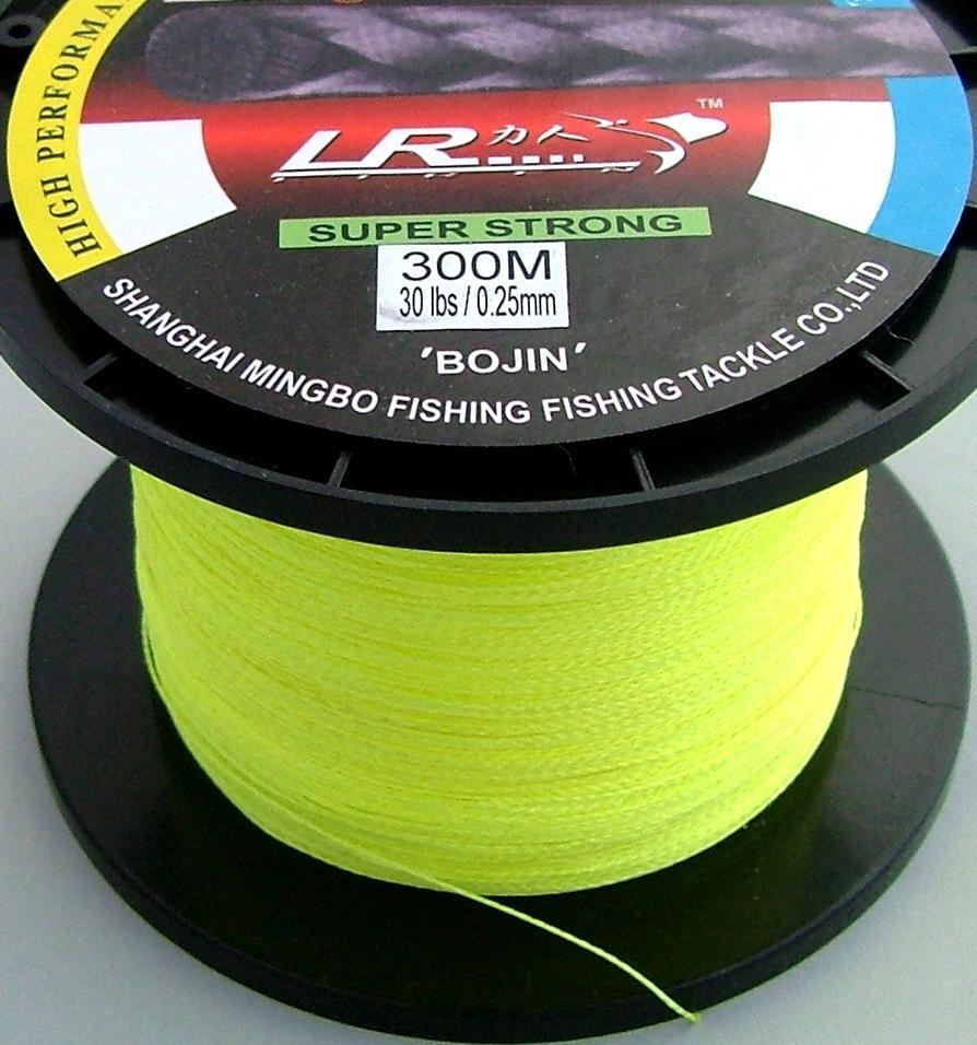 Lr braid fishing line 30lb 300m yellow made from 100 for 30 lb braided fishing line