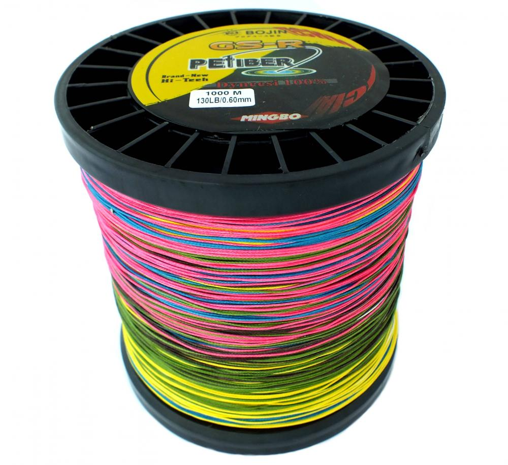 Gsr pefiber braid fishing line 130lb 1000m 5 colour 8 for Best braided fishing line saltwater