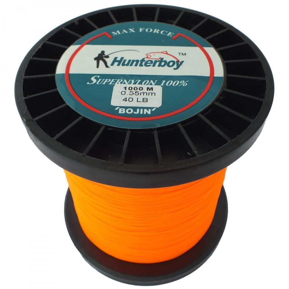 Hunterboy opaque orange nylon fishing line 40lb 1000m for Orange fishing line