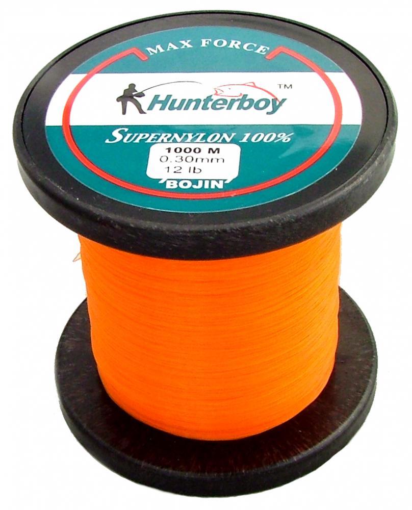 Hunterboy opaque orange nylon fishing line 1000m 12lb for Nylon fishing line