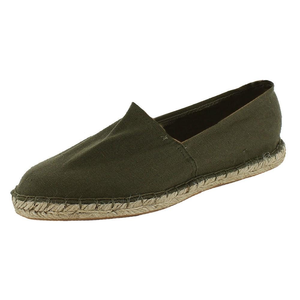 mens boys canvas espadrilles shoes flat shoes khaki