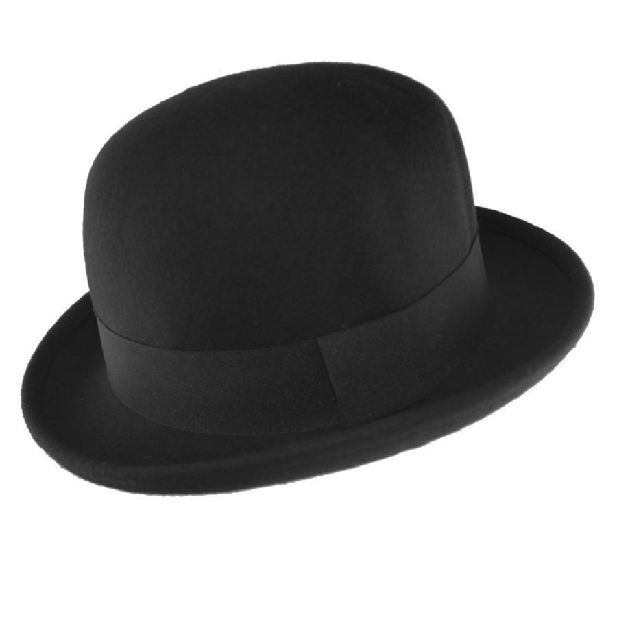 black 100 wool soft crushable bowler hat 4 sizes ebay
