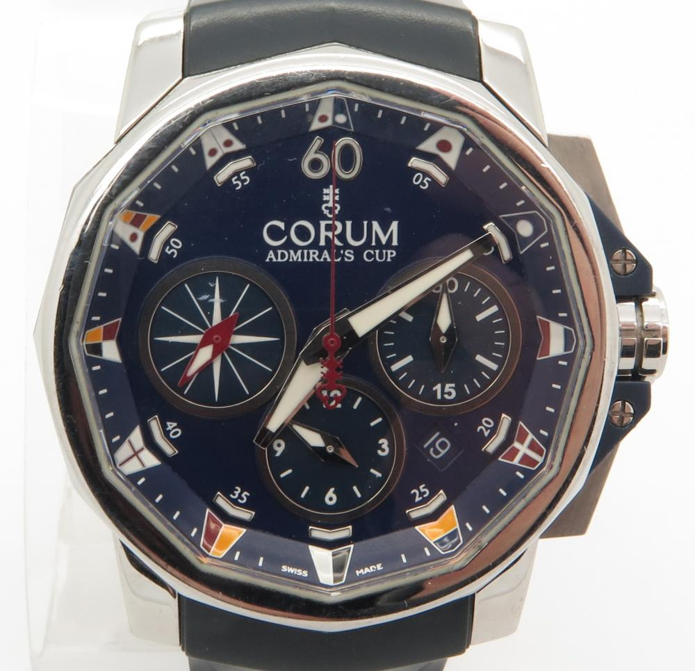 corum admirals cup ref 01 0007 stainless steel men 039 s watch click to close full size