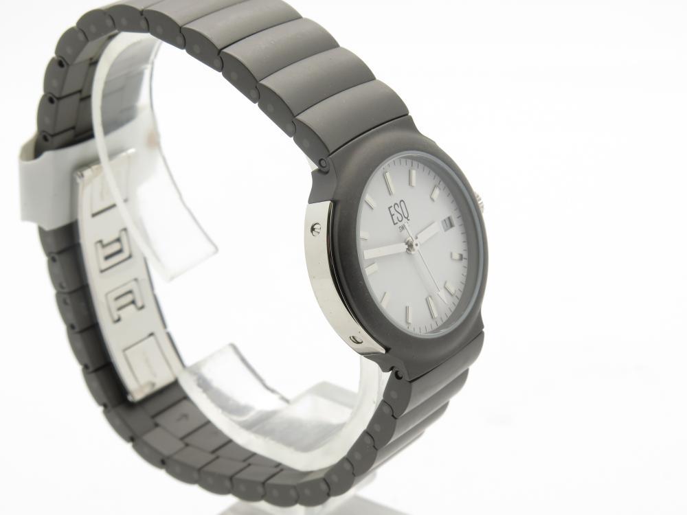 esq by movado aquarius ladies titanium swiss quartz watch. Black Bedroom Furniture Sets. Home Design Ideas