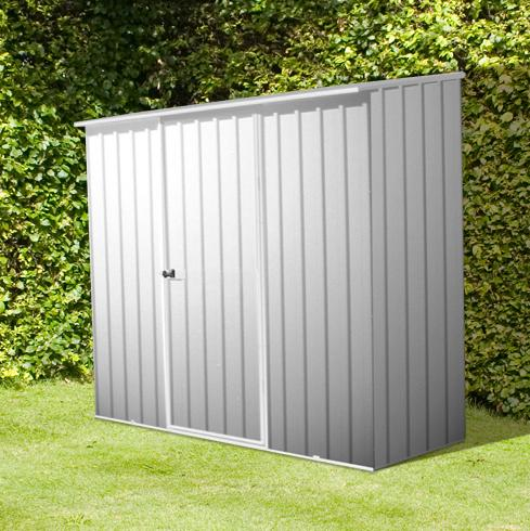 7x5 emerald metal shed no windows single door pent roof garden sheds