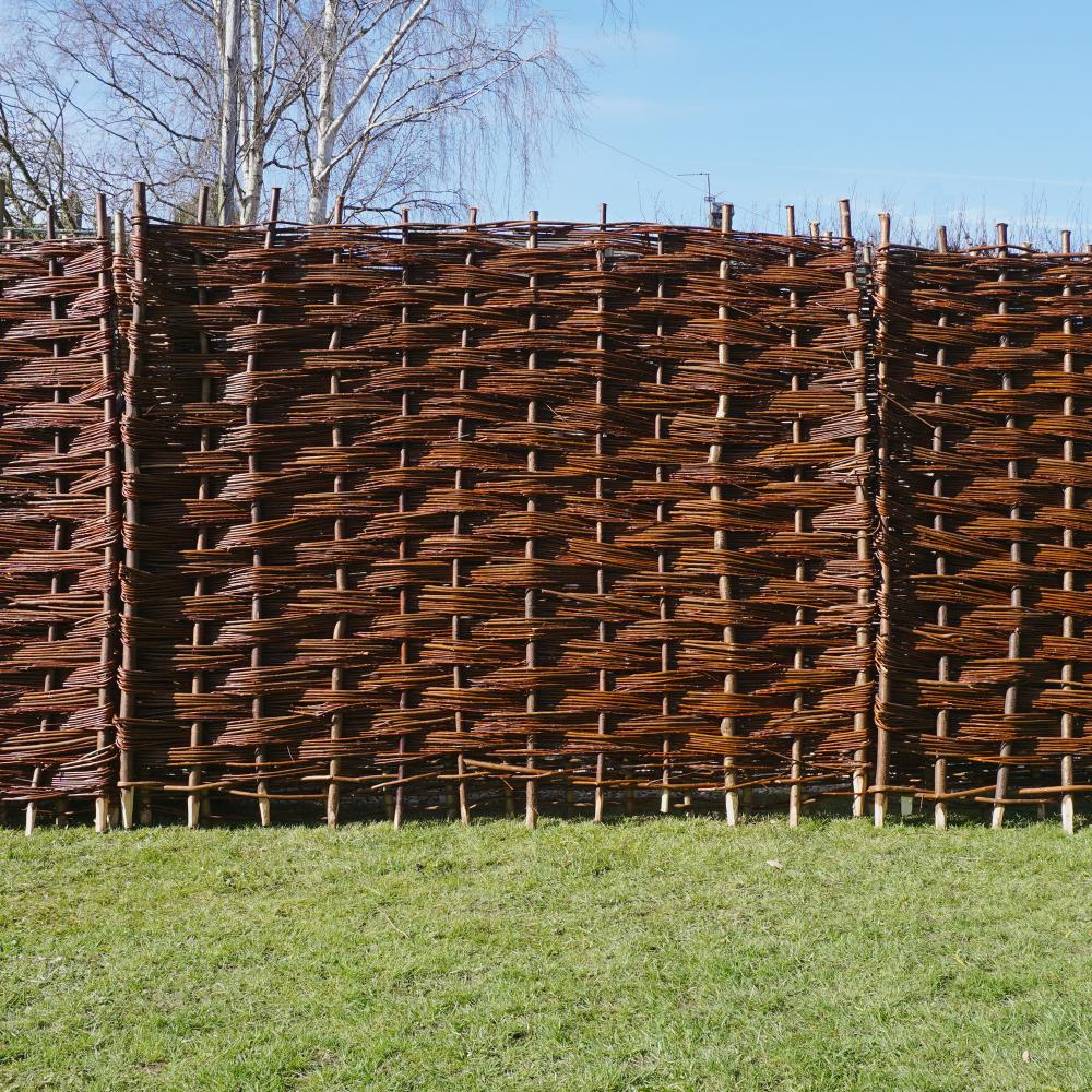 Bunched willow hurdle woven garden fencing panel 6ft 5ft 4 ft 4ft 3ft x 6ft ebay - Woven wood wall panels ...