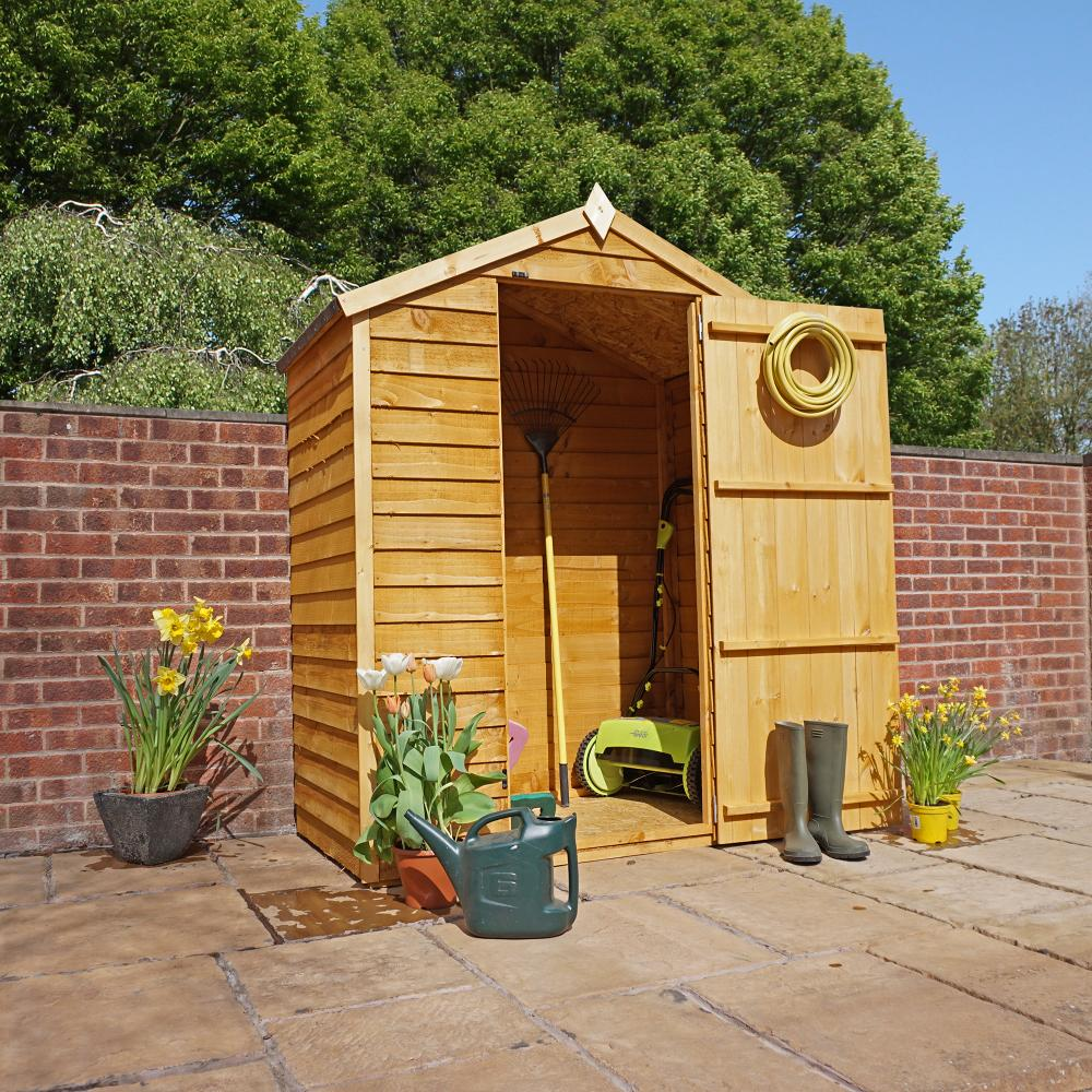 Garden Sheds 3x5 3x5 overlap apex wooden garden shed osb roof and floor | ebay
