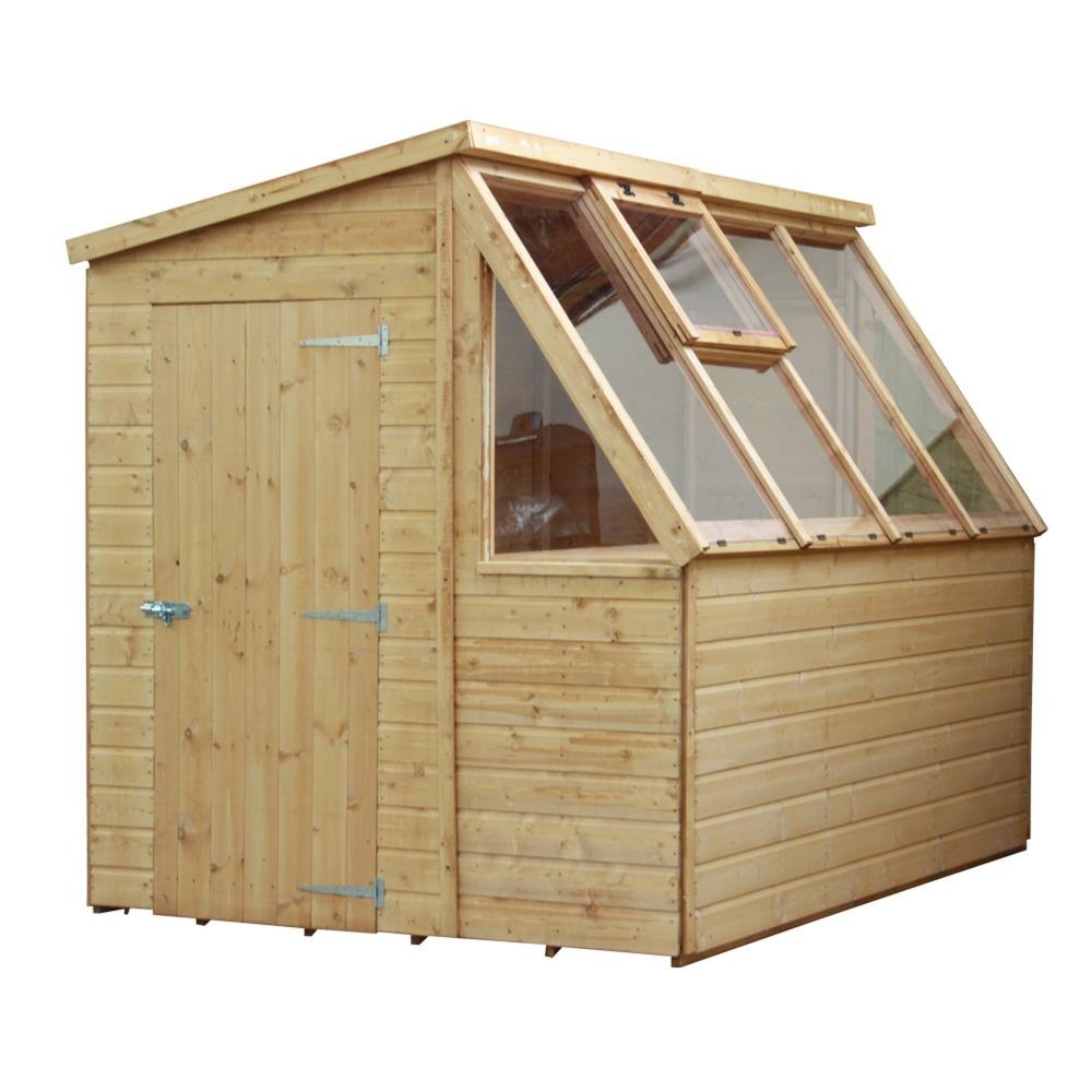 8 X 6 Tongue And Groove Potting Shed Wooden Greenhouse By