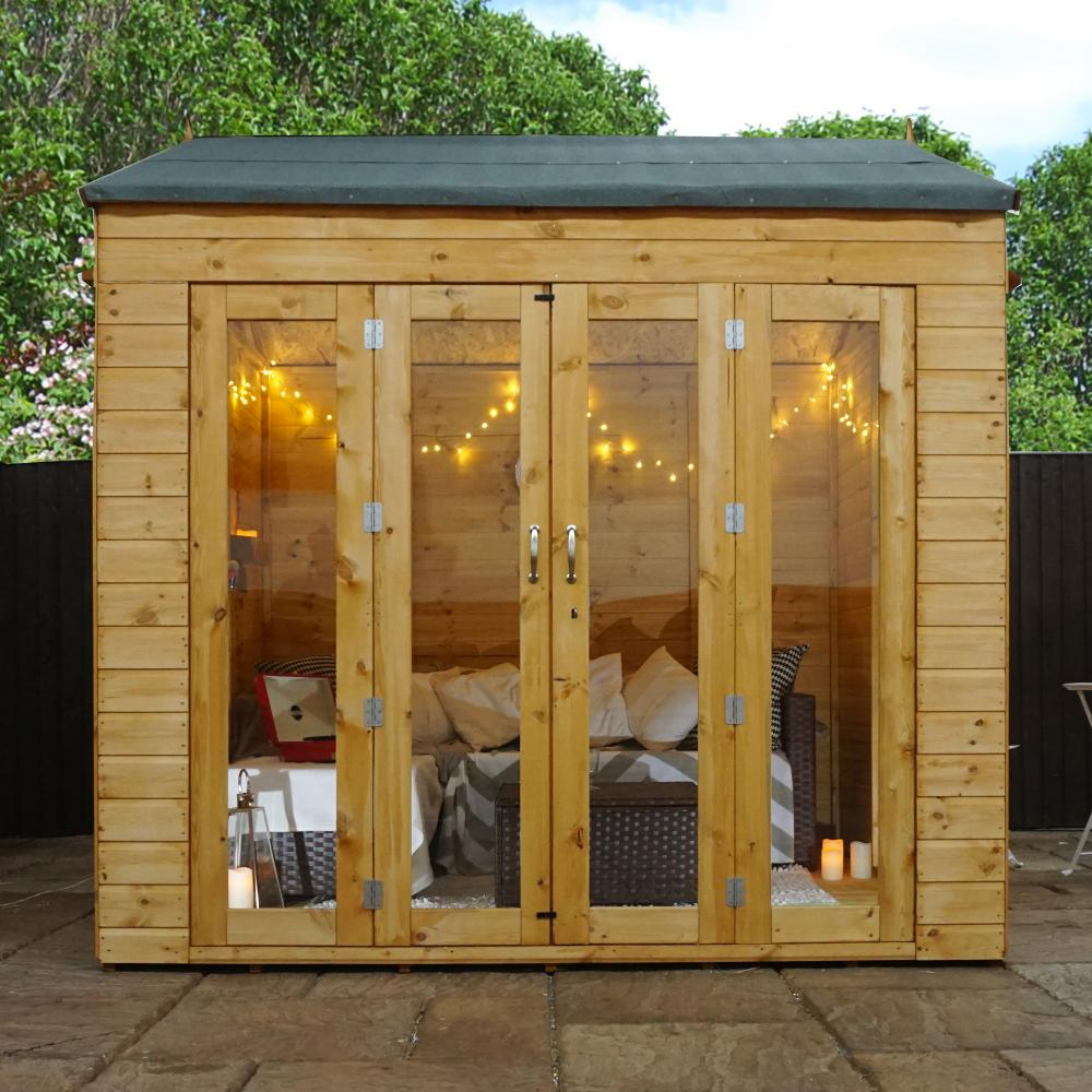 8x8 wooden summerhouse vermont garden summer house shiplap for Summer house plans free
