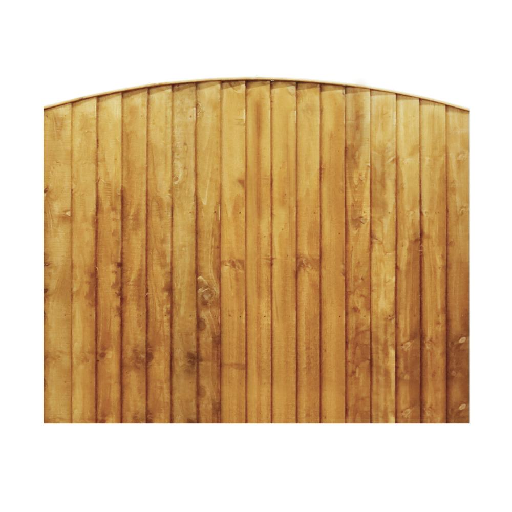wooden fence panels vertical feather edge curved fencing. Black Bedroom Furniture Sets. Home Design Ideas