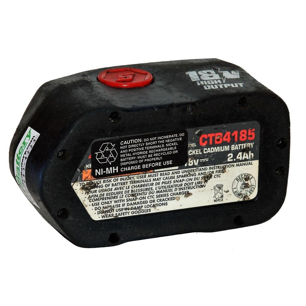 snap on 18 volt ctb4185 battery upgraded rebuilt with. Black Bedroom Furniture Sets. Home Design Ideas