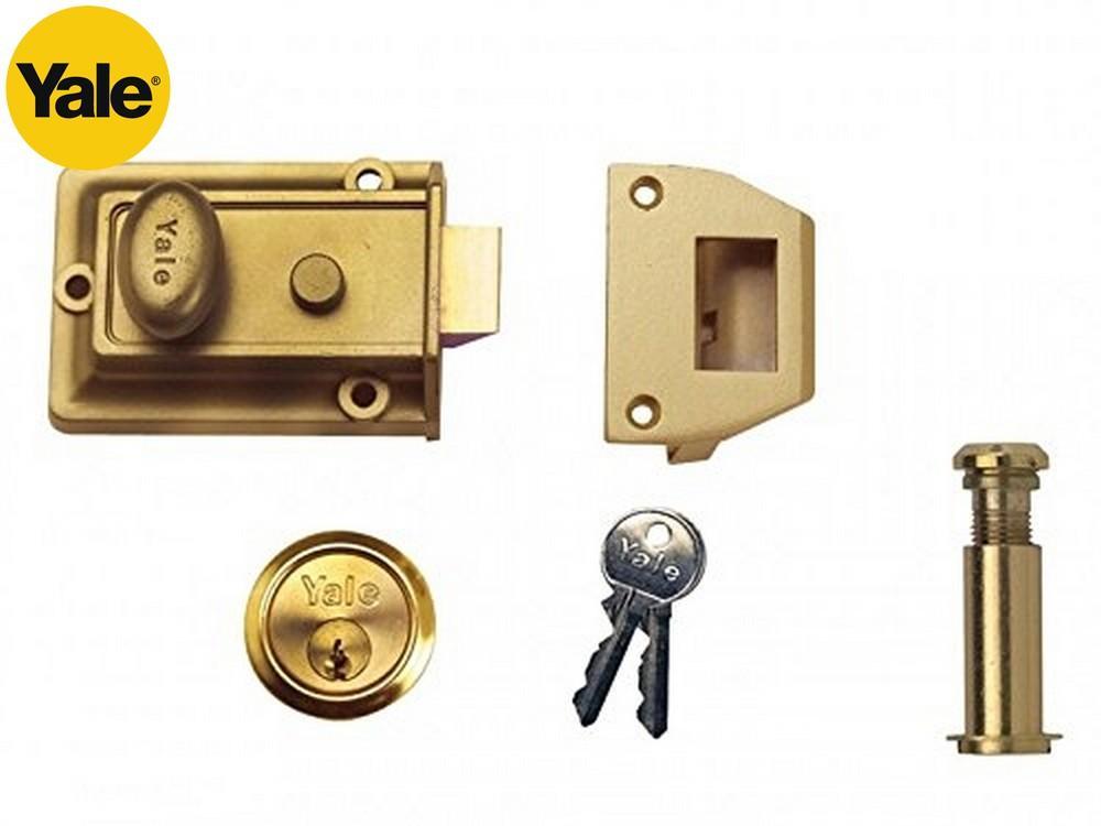 Yale Traditional Nightlatch 60Mm Door Fixtures Home Security DIY Locks New