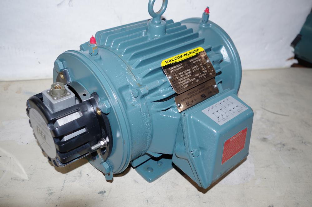 Baldor Reliance Inverter Drive 3hp Ac Motor Encoder