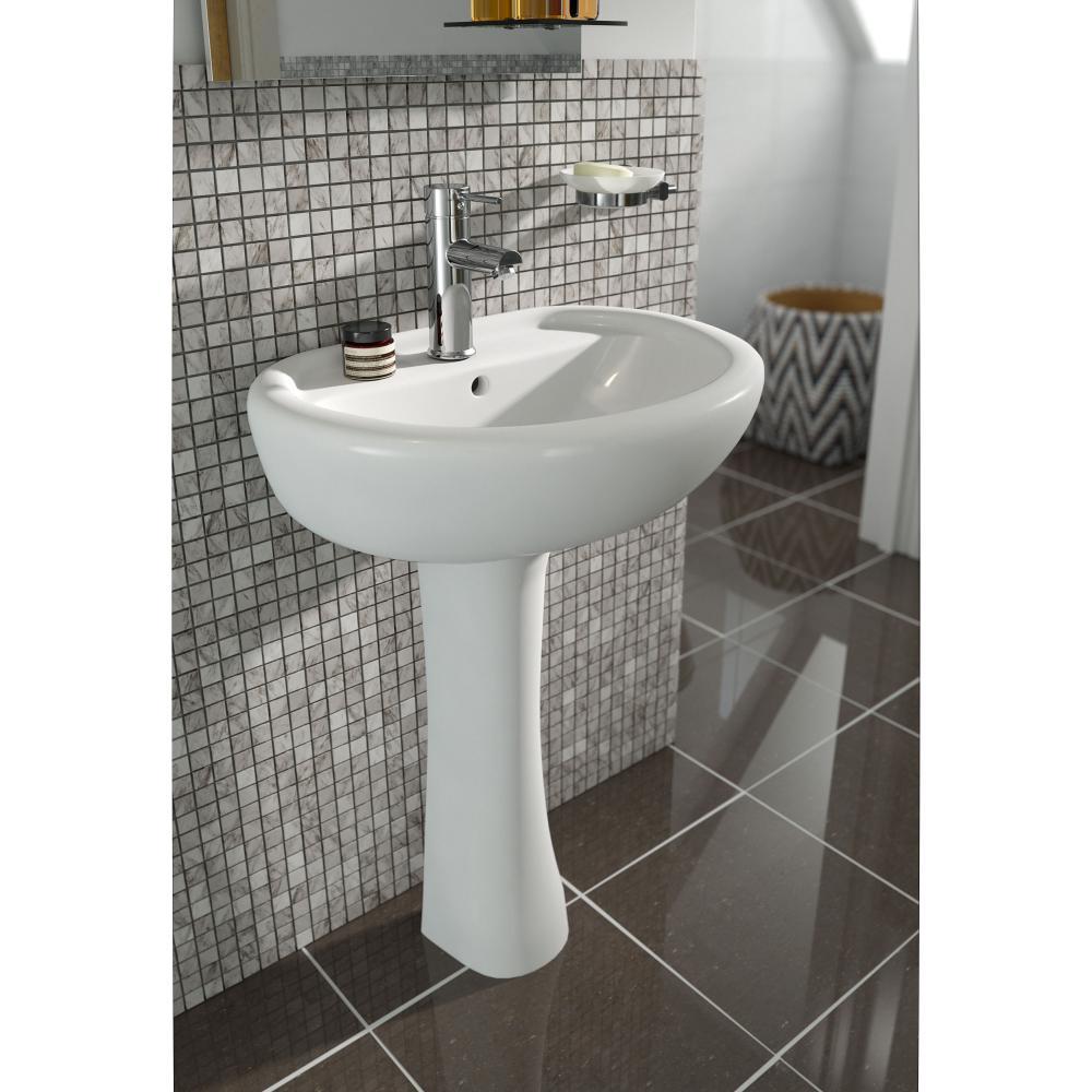 3 Piece Modern Bathroom Suite - Toilet Basin Bath Taps ...