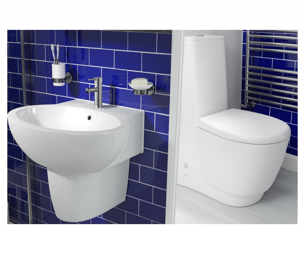 3 piece modern bathroom suite toilet basin bath taps for Bathroom 3 piece suite
