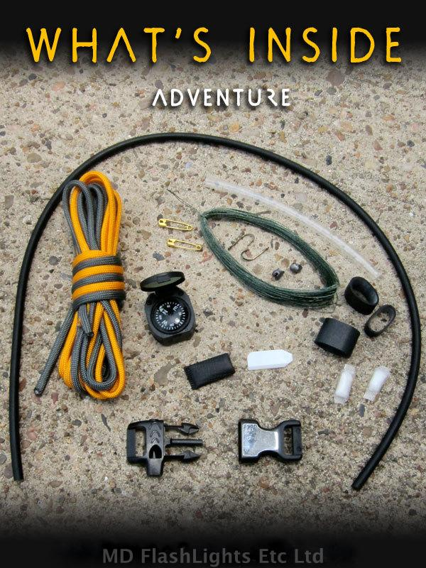 wazoo adventure paracord survival kit bracelet bushcraft