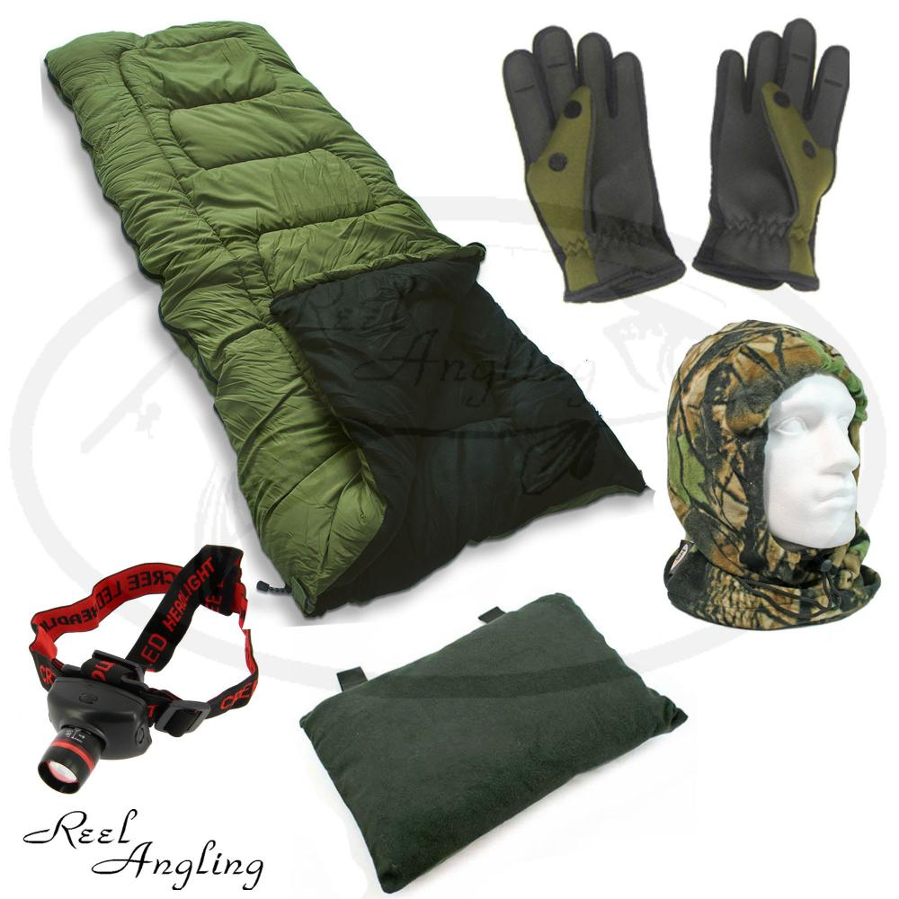 5 season sleeping bag pillow neoprene gloves camo snood for Winter fishing gloves