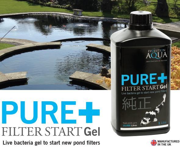Evolution aqua pure filter start gel 2 5l live pond for Pond filter bacteria