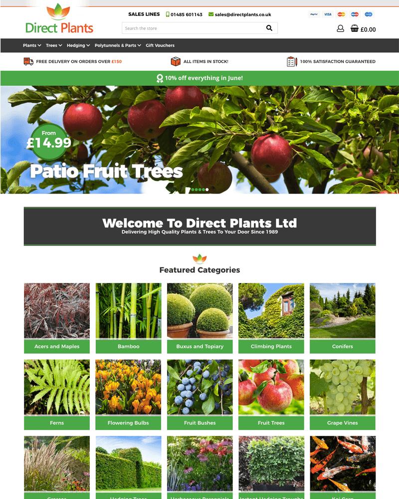 Direct Plants Best Ecommerce Website