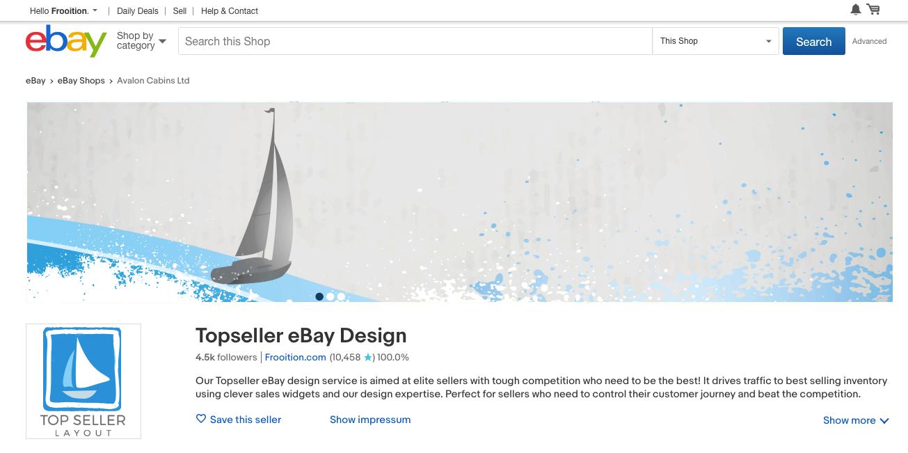eBay Store Page branding