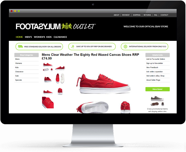 Professional Responsive Top Seller EBay Designs By Frooition - Ebay template design