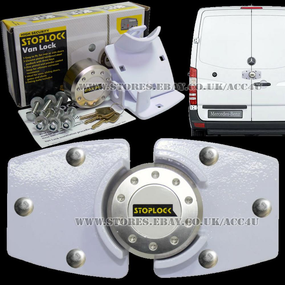 Stoplock White Van High Security Anti Theft Rear Or Side